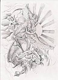 angel vs evil tattoo design tattoos book 65 000 tattoos designs