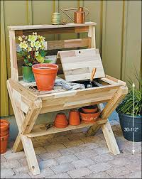 Gardening Table Cedar Potting Table Lee Valley Tools