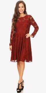 burgundy dress for wedding guest scoop neckline sleeve a line wedding guest dress