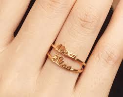 name ring 25 personalized name ring gold name ring stacking ring