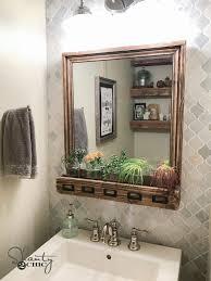 diy farmhouse storage mirror and youtube video tutorial shanty 2