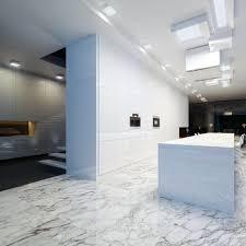 bathroom large white wall tiles black hexagon mosaic floor window
