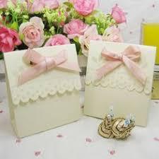 Wedding Candy Boxes Wholesale Wholesale 100pcs Golden Wedding Favor Candy Boxes Gold Ribbon