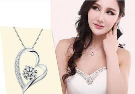 crystal diamond necklace images High quality austrian crystal diamonds love heart pendant jpg