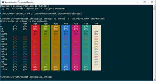 color tool change color scheme of command prompt with microsoft s colortool