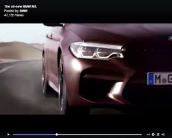 first bmw m5 2018 bmw m5 f90 first edition video teaser confirms august 21