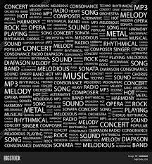 Radio Black Background Music Word Collage On Black Vector U0026 Photo Bigstock