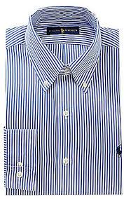 polo ralph lauren pinpoint button down collar stripe oxford dress