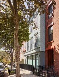 Rowhou Com by Greenpoint Row House Features Two Story Kitchen And Bone Dry Wine