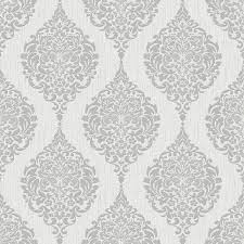 Wallpaper Shop Shop Graham U0026 Brown Midas Grey Vinyl Textured Damask Wallpaper At