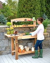 Merry Garden Potting Bench by Leisure Season Potting Table With Storage Potting Bench With