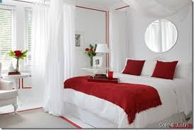 Interchangeable Accents Are The Perfect Way To Bring Some Bold - White and red bedroom designs