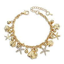 gold chain charm bracelet images Long way 2015 european design gold charm bracelets bangles jpg