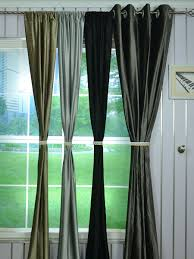 Gray Velvet Curtains 63 Inch 96 Inch Whitney Gray And Black Solid Blackout Grommet