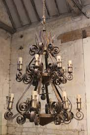 Wrought Iron Ceiling Lights A Spectacular 1950s Wrought Iron Chandelier Ceiling