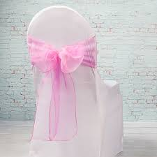 pink chair sashes organza chair sashes 7 wide pack of 10