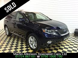 lexus rx blue used lexus rx 450h 3 5 se l premier 5dr cvt auto for sale in