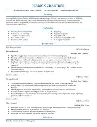 business analyst resume template business analyst cv exle for business livecareer