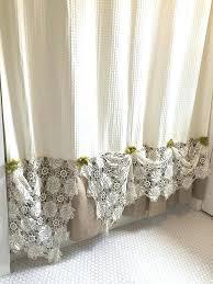 Burlap Shower Curtains Shower Curtain Etsy 100 Images Burlap Shower Curtain