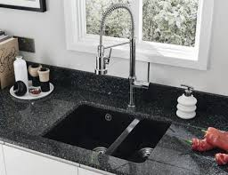 Composite Undermount Kitchen Sinks by Cool New Zealand Black Kitchen Sink Strainer And Black Round