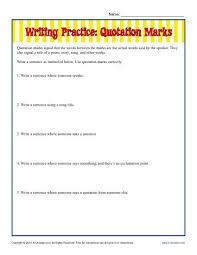 quotation marks worksheets worksheets