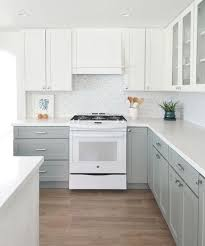 two tone kitchen cabinets white and grey 25 edgy two tone kitchen designs you ll shelterness