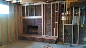 basement remodel fireplace three ring circus