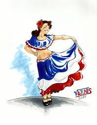 Dominican Republic Flag Meaning Bailarina Folklorica Dominicana Mis Dibujos Pinterest