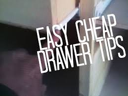 how to build and install a drawer easy simple cheap method