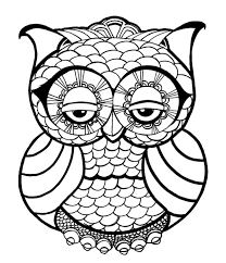 Coloring Pages Of Owls For Adults Funycoloring Owl Color Pages