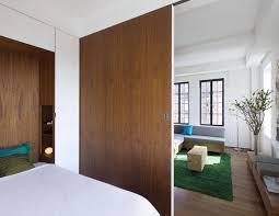living room and bedroom with sliding room divider sliding room