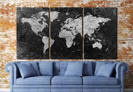 Black And White World Map World Map Large Black And White World Map World Map Canvas