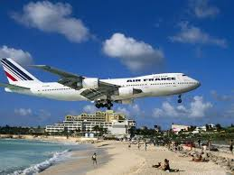 irma world famous st martin airport where planes fly over beach