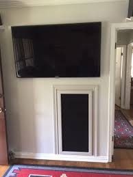 cloth media cabinet door for home theater gaming and more