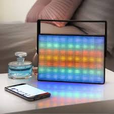 light up portable speaker light up led wireless bluetooth portable speaker with carry handle