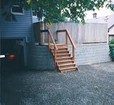 Retaining Wall Stairs Design Block Retaining Wall And Stairs Design And Installation Olympia