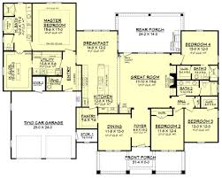 craftsman style house plan 4 beds 3 50 baths 2759 sq ft plan