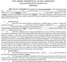 new jersey residential tenancy lease agreement new jersey rental