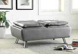 Grey Ottoman Coffee Table Grey Tufted Ottoman Etechconsulting Co