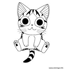 coloriage chat dessin à imprimer gratuit