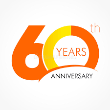 celebrating 60 years birthday 60 years celebrating classic logo stock vector illustration