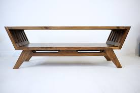 Midcentury Coffee Table Handmade The April Solid Walnut Coffee Table By Moderncre8ve