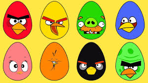 angry birds eggs coloring pages for learn colors angry birds