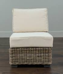 rosecliff heights north bay driftwood rattan center chair with