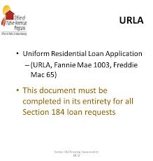 section 184 indian housing loan guarantee program ppt download
