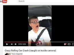 watch driver u0027s singing selfie interrupted by scary crash khou com