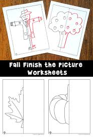 fall finish the picture symmetry drawing worksheets woo jr