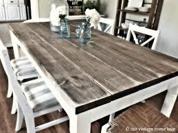 homemade rustic table grey and white rug counter height table and