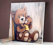 cadre ourson chambre bébé tableau nounours pour déco de chambre d enfant bébé vente de