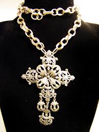 cross necklace fashion jewelry images Vintage florenza filigree cross necklace collectors weekly jpg
